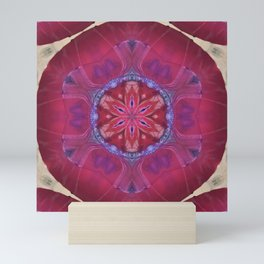Abstract Fruit Red Cool Star Mini Art Print