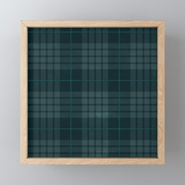 Dark Plaid Framed Mini Art Print