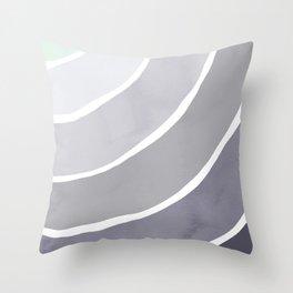 Blue Palette Rainbow Throw Pillow