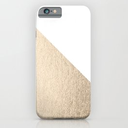 Simply Shadow in White Gold Sands iPhone Case