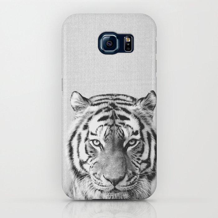 tiger - black & white iphone case