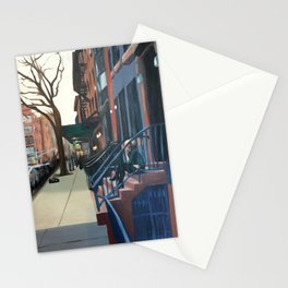 Woman on the Stoop, West 21st Street Stationery Cards