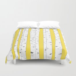 Aspen Forest - Yellow Duvet Cover