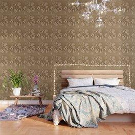 Dogwood Tree Flowers (sepia-light) Wallpaper