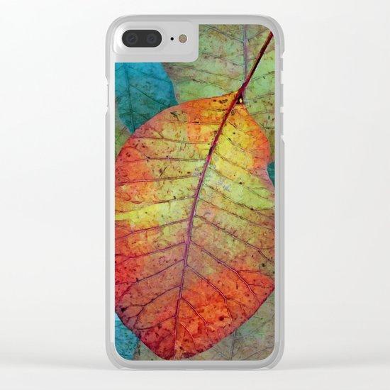 Fallen leaves II Clear iPhone Case