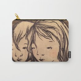 Girls caught in the wind Carry-All Pouch