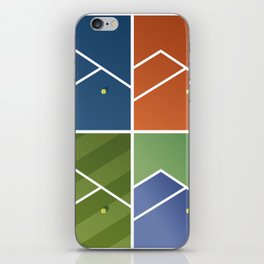 Tennis Courts iPhone Skin