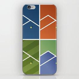Tennis Courts iPhone Skin