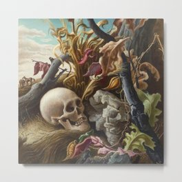 1940 Classical Masterpiece 'After Many Days' by Thomas Hart Benton Metal Print