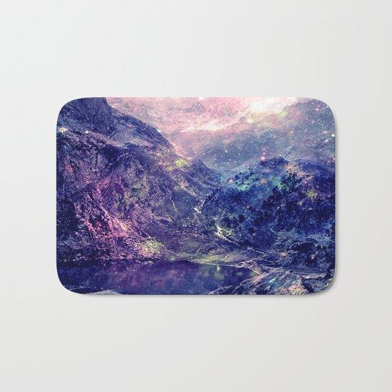 Galaxy Mountains : Deep Pastels Bath Mat
