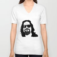 big lebowski V-neck T-shirts featuring The Big Lebowski by OrsoCiock