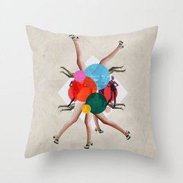 Show girls love fashion Throw Pillow