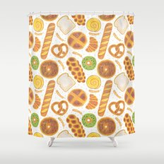 The Delicious Breads Shower Curtain
