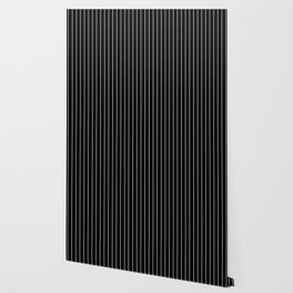 Classic White Baseball Stripe Lines On Black Wallpaper