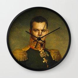 Matt Damon - replaceface Wall Clock