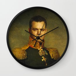 Matt Damon - replaceface Wall Clock
