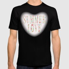 Summer Love Black Mens Fitted Tee MEDIUM