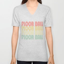 Floor Ball Hipster Design Unisex V-Neck