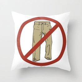 No Pants! Throw Pillow