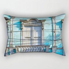 Blue House Rectangular Pillow