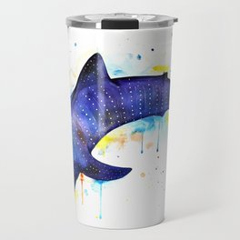 Whale shark, watercolour Travel Mug