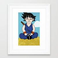 goku Framed Art Prints featuring Goku by nu boniglio