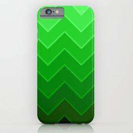 Gradient Green Zig-Zags iPhone Case