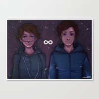 tfios Canvas Prints featuring TFIOS Infinites by Asad Farook