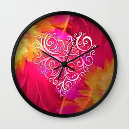 Ever More Heart Wall Clock