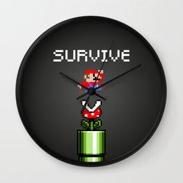 Mario survive Wall Clock