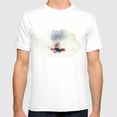 Peace in mind MEDIUM White Mens Fitted Tee