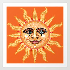 Happy Sun Bedazzled Art Print