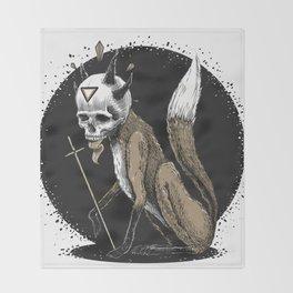 Kitsune Demon Fox Throw Blanket