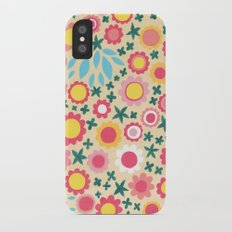 Crowded Colourful Flowers iPhone X Slim Case