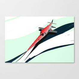 Supersonic Plane Red Canvas Print