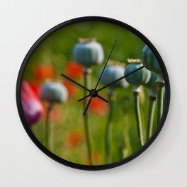 Poppy Heads Wall Clock