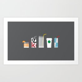 New York Normal: Straws. Art Print
