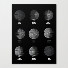 The Death Star Moon phase. Canvas Print