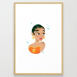 Mermay Orange Framed Art Print