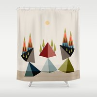 rocky Shower Curtains featuring Rocky Path by Tammy Kushnir