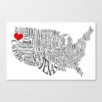 oregon Canvas Prints featuring Oregon by Taylor Steiner