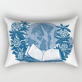 Orcas Island Map Book Rhododendron Drawing Rectangular Pillow