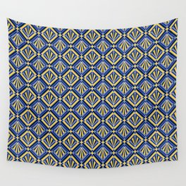 Winter Deco Diamonds Wall Tapestry