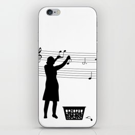 Making music iPhone Skin