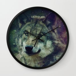 WOLF II colored Wall Clock