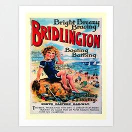retro Bridlington Art Print