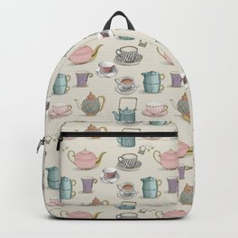 Vintage Teacups and Teapots Backpack