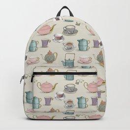 Vintage Teacups and Teapots Backpack