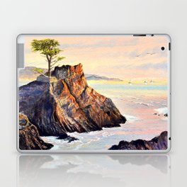 Pebble Beach Lone Cypress Tree Laptop & iPad Skin