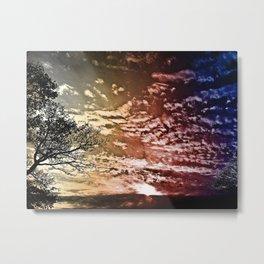 SJ Sky 2a - Burn Metal Print